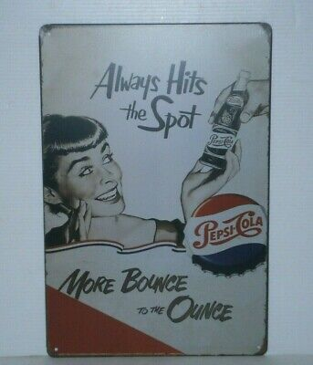 PCMS1 Pepsi - Cola Metal Sign 30 cm H X 20 cm W New