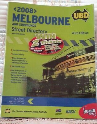 UBD 2008 Melbourne Street Directory 43rd Edition