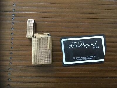 Briquet Dupont plaque or