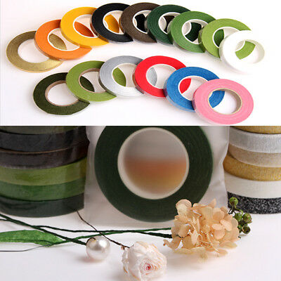 Florist Stem Tape-Wire Floral Work-Buttonholes  flower Craft Floristry 12 Colors