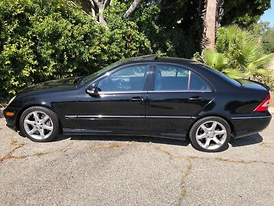 2007 Mercedes-Benz C-Class SPORT PREMIUM BLACK BLACK SOUTHERN CALIFORNIA BEAUTY MERZ DEALER SERVICED ALWAYS! OUTSTANDING!