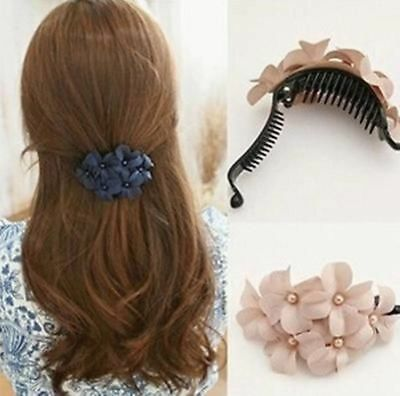 2019 Great Handmade Women Girl Flower Banana Barrette Hair Clip Hair Pin Claw