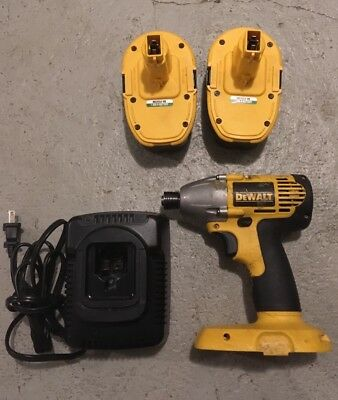 "DeWALT DW056 1/4"" 18V Cordless Impact Driver Full Set 2 Batteries"