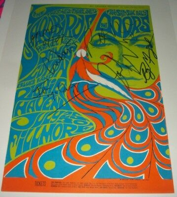 The Doors/Yardbirds (1967) BG-75 Poster **SIGNED BY (6) PERFORMERS** NEAR MINT!