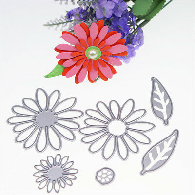 6pcs flower metal cutting dies stencil scrapbook album paper embossing craft  I