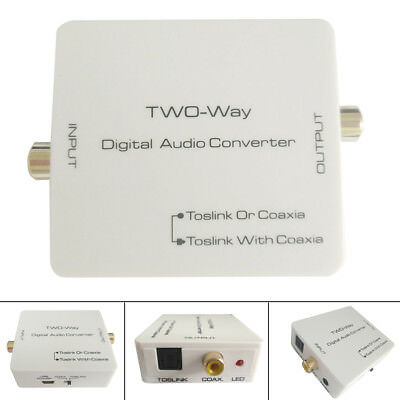 Digital Optical Dual Way Toslink to Coaxial SPDIF Coax Signal Converter Adapter