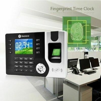 Realand Attendance Tracking System Clocking in Machine Fingerprint + 10 ID CARDS
