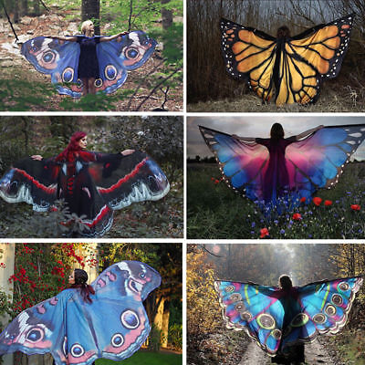 Fairy Butterfly Scarf Nymph Pixie 1Pcs Shawl Scarf Costume Accessory Wings