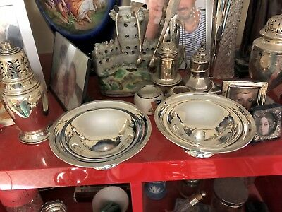 Silver Edwardian Footed Dishes - James Dixon & Sons - Sheffield - 1906/7