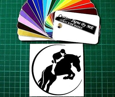 Horse Riding Sticker Vinyl Decal Adhesive Car Window Bumper Tailgate Trailer B
