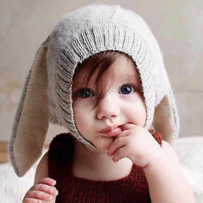 Baby Toddler Winter Knitted Rabbit Crochet Warm Hat Boy Girl