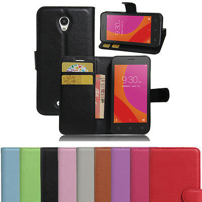 Luxury Shockproof Magnetic PU Leather Wallet Flip Case Cover Lenovo A Plus A1010