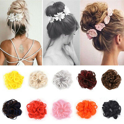 Curly Hair Scrunchie Ribbon Ponytail Messy Wavy Piece Fake Extensions
