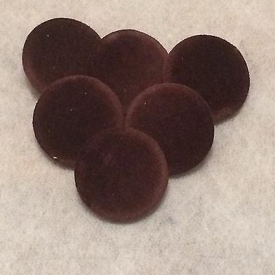 Brown Velvet Buttons, 10mm, 16mm, 18mm, 20mm, 25mm, 31mm, 37mm Small & Large