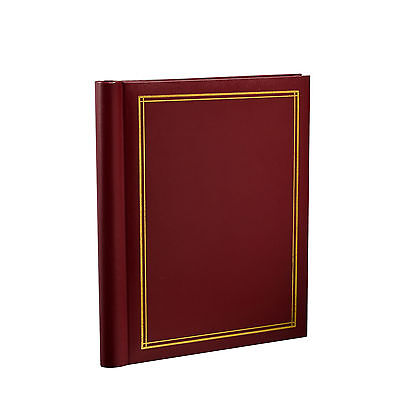 Self Adhesive Large Photo Albums 20 Sheets/40 sides 10.8 X 7.5 Inches, Red