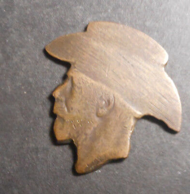 ND  WWI Trench Art Portrait  cut out of penny  NICE