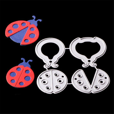 Vivid  Ladybugs Cutting Dies Stencil DIY Scrapbooking Photo Album  Decor Craft |
