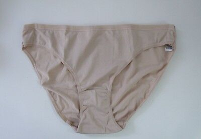 M & S Size 14 NO VPL Bikini Knickers Panties Briefs microfibre silky Natural