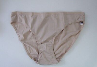 M & S Size 18 NO VPL Bikini Knickers Panties Briefs microfibre silky Natural