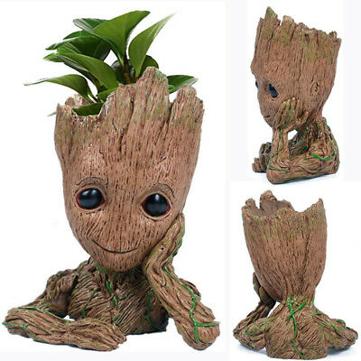 Guardians of The Galaxy Baby Groot Figure Flowerpot Style Pen Pot Toy Gifts 5.5""