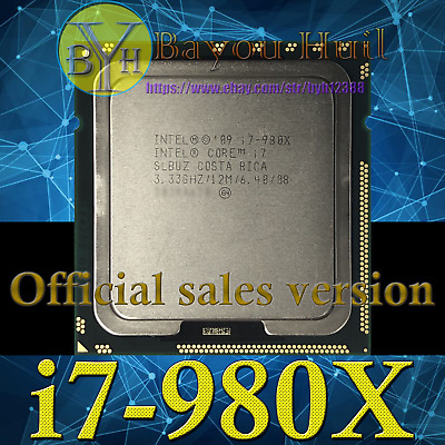 Intel Core i7-980X Extreme Edition SLBUZ 3.33GHz LGA1366 6core 12M Processor CPU