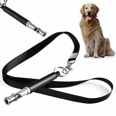 Dog Whistle Puppy Training Ultrasonic Pitch Sound Adjustable Lanyard Key Chain