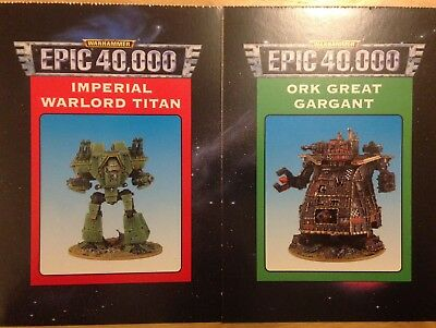 WARHAMMER EPIC 40K 40,000 Cards 1990's Specifications Rules Playing GW  Citadel