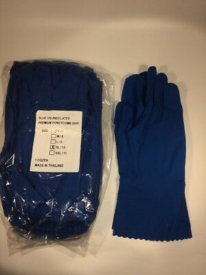 Industrial Latex Rubber Gloves  Extra Large 12 Pairs Reusable