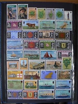 Collection Of Mint Gb Guernsey Channel Islands Stamps