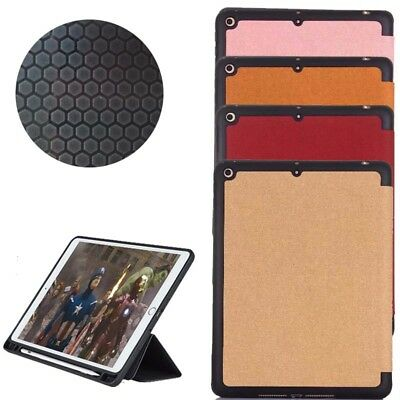 Shockproof PU leather Soft Tpu Pen Slot Smart Stand Case for ipad 9.7  2017 2018