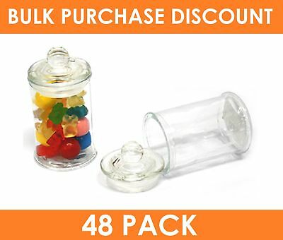 48 x 150mL Mini Apothecary Jars with Tight Seal Lid Wedding Favours Bomboniere