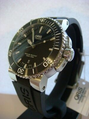 NEW ORIS Aquis Date Automatic Men s Divers 43mm Watch 0173376534154 Black  300m 56d5161ffd4