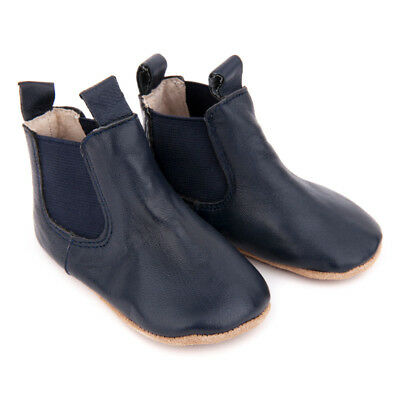NEW Pre-walker leather riding boots in navy Boy's by SKEANIE