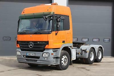 2003 Mercedes Benz Actros 2650 6x4 T/unit Twin Sleeper Cab, Double Drive