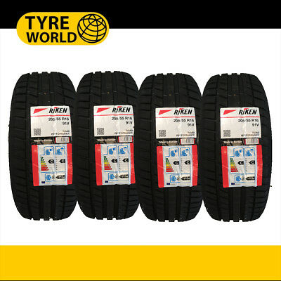 1,2,3,4 x 205/55R16  RIKEN MICHELIN MADE NEW TYRES HIGH PERFORMANCE TYRE