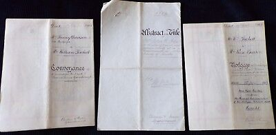 4 Documents on Properties in Gainsborough, Lincoln County, 1884-1908