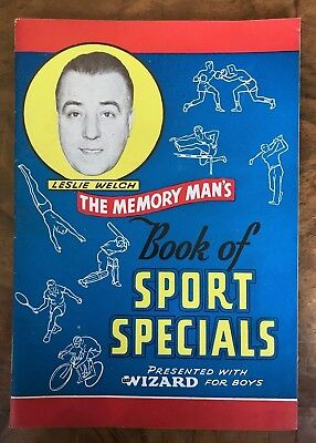 Memory Man's Book of Sport Specials Presented With Wizard For Boys