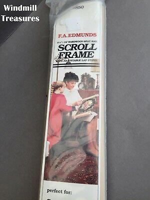"""Large Needlepoint Embroidery Free Standing Scroll Frame 24"""" Brand New"""