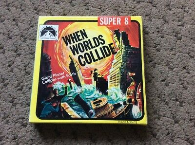 "Super 8 Cine Film Classic Film ""When Worlds Collide"" B&w"