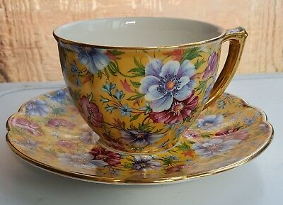 sadler pottery cup & saucer Sophie chintz floral flowers kitchenware pottery