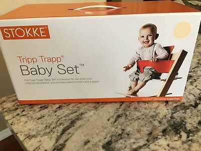 NEW $69 STOKKE TRIPP TRAPP Baby Set Seat NATURAL