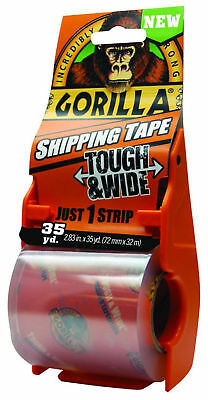 GORILLA Tough and Wide Packaging Tape 2.83-in x 105-ft Clear Packing Tape New