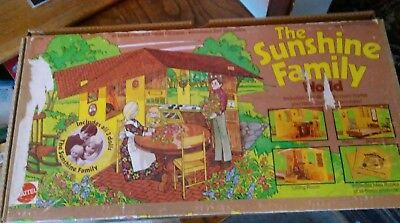 vintage mattel sunshine family world house and dolls