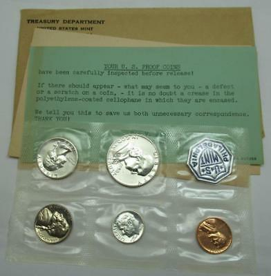 1958 United States Mint Proof Set - Silver - W/ Original Packaging and COA