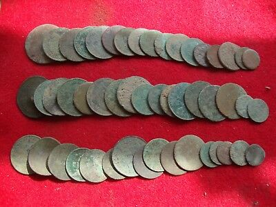 Metal detecting detector finds - 50 unresearched coins