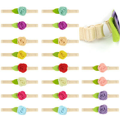 10pcs/20pcs Baby Girls Infant Toddler Flower Bow Headband Hair Band Accessories