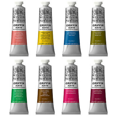 Winsor & Newton Griffin Alkyd Fast Drying Oil Paint 37ml - 48 Colours