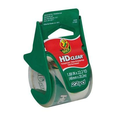 Duck HD Clear 1.88-in x 22.2-Yard Clear Packing Tape Moving Storage Organization