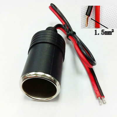 12v Car Cigarette Lighter  Female Socket Plug Connector socket cable1.5mm2 16awg