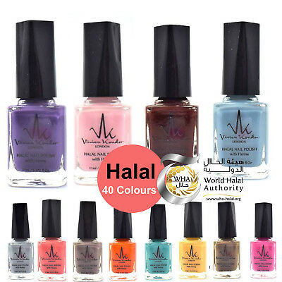 Halal Nail Polish With Henna Wudhu Friendly Breathable Water Permeable Vegan